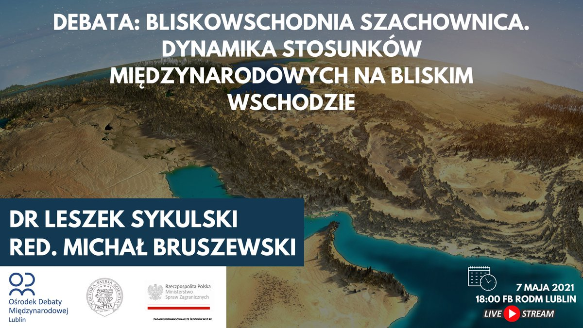 Bliskowschodnia szachownica. Debata RODM Lublin z udziałem PTGS